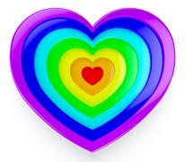 rainbow heart - stock illustration