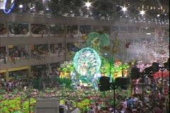 Carnival in Rio, Carnaval, nighttime, Sambadromo, Samba Parades, wide - stock footage