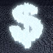 glowing dollar sign - stock illustration