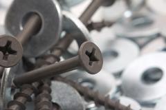 nuts and screws. macro - stock photo
