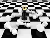 Pawn king Stock Illustration