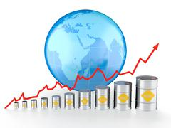 oil chart - stock illustration