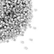 Heap of silver cubes Stock Illustration