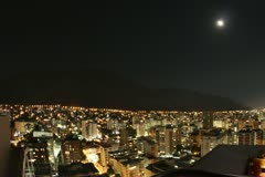 Caracas at night Timelapse from a high point of view Stock Footage