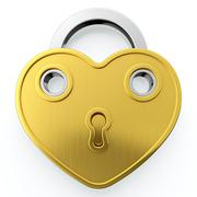 golden padlock - stock illustration
