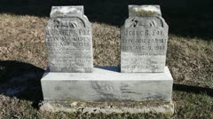 Tombstone from the early 1900's Stock Footage