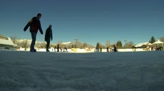 A couple ice skating Stock Footage