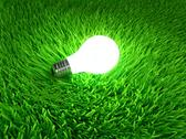 Energy saving light bulb Stock Illustration