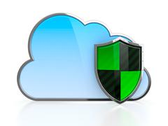 cloud protection - stock illustration