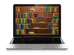 electronic library - stock illustration