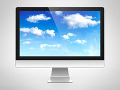 Computer monitor Stock Illustration