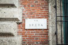 brera street - stock photo