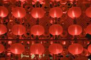 Stock Photo of red lanterns at night for chinese new year