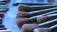 Makeup Brushes Stock Footage