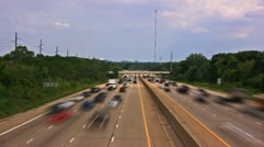 Hiway Traffic - time lapsed Stock Footage