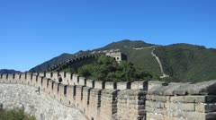 The Great Wall of China - Mutianyu Stock Footage