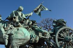 civil war statue in washington dc - stock photo