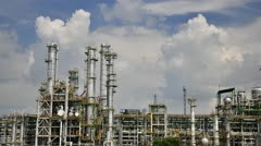 Petrochemical plant with sky - TIme lapse Stock Footage