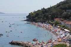 Beach - panorama view Stock Photos