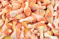 chicken meat in market - stock photo