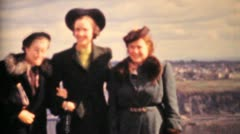Women Tourists Enjoying The Saint Lawrence Seaway 1958-Vintage 8mm film Stock Footage