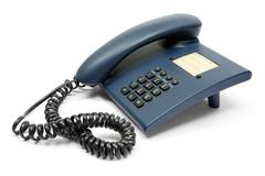 Blue Phone Isolated on a White Background Stock Photos