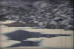 1960's archive-Sierra Mountains glacial lake Stock Footage