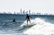 Stock Photo of surfing beaches in queensland, australia