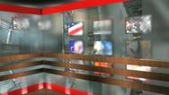 Virtual broadcasting set, TV, internet, online, streaming. Stock Footage