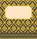 Frame with thai background Stock Illustration