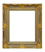gold antique frame - stock photo