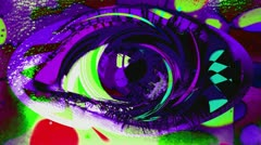 Psychedelic Eye Colorful Abstract Background Stock Footage
