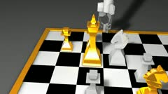 Robot chess player animation, AI, artificial intelligent. Stock Footage