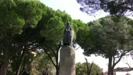 Statue of Knight Stock Footage