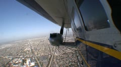 AERIAL-blimp and engine Stock Footage