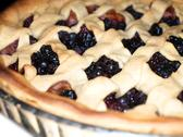 Stock Photo of fresh dark blue berry pie