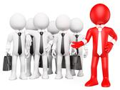 3d white people. work team Stock Illustration