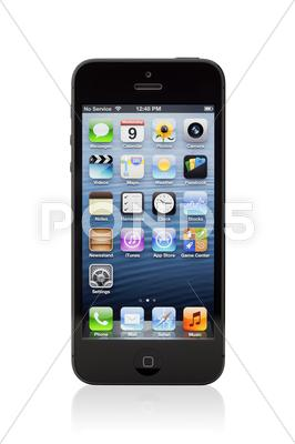 Stock photo of new black apple iphone 5