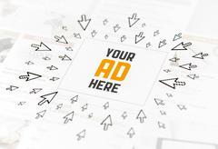 success web advertisement concept - stock illustration