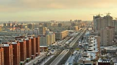 Winter city landscape Stock Footage