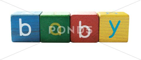 Stock photo of baby blocks