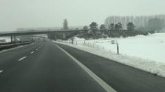 Winter highway, switzerland Stock Footage