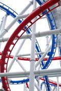line of roller coaster rail - stock illustration