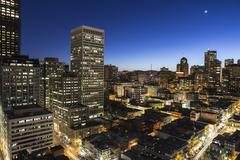 San francisco california chinatown dusk view Stock Photos