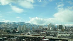 Timelapse of Reno City Skyline Stock Footage