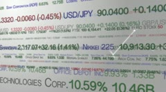 Patterns in the stock market Stock Footage