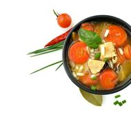 Healthy soup bowl Stock Photos