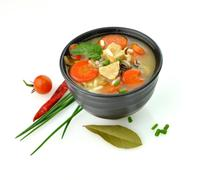 healthy soup bowl - stock photo