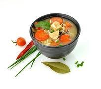 Healthy soup bowl Stock Photos