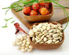 white beans - stock photo